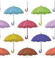 Umbrella seamless background vector image vector image