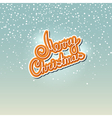 Winter Background with the Words Merry Christmas vector image vector image