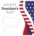 presidents day in usa background vector image