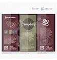 Brochure mock up design template for business vector image