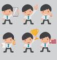 Character Business Worker Cartoon Set vector image