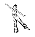 Aerobics vector image