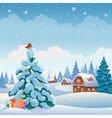 Christmas village vector image