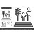 parental care line icon vector image