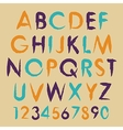 Vintage alphabet typography set with vector image