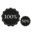 discounts sign black icon on vector image