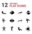 12 core icons vector image vector image