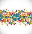 Abstract creative and colorful geometric strip vector image vector image