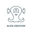alien creature line icon outline concept vector image