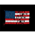 american text flag - america land free vector image vector image