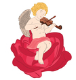 angel with violin vector image vector image