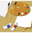 Artist workspace vector image