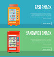 automatic vending machine flyers set vector image vector image