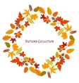 Autumn frame background vector image vector image