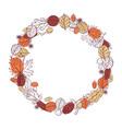 autumn wreath leaves sketch