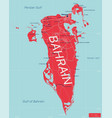 bahrain country detailed editable map vector image vector image