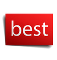 best red paper sign isolated on white vector image vector image