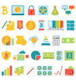 bitcoin mining money icons virtual crypto vector image