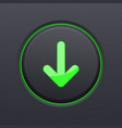 Black download button with green down arrow
