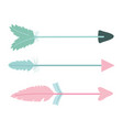 bohemian arrows with feathers icons vector image vector image