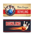 Bowling Banner Set vector image vector image