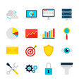 business analytics objects vector image vector image