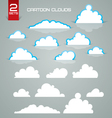 cartoon clouds vector image vector image