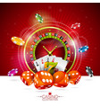 casino with roulette wheel vector image vector image