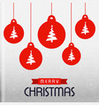 chrismtas pattern background and balls vector image vector image