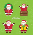 christmas background christmas card collection vector image vector image