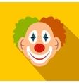 Clown flat icon vector image vector image