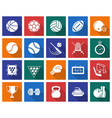 collection of square icons sport vector image vector image