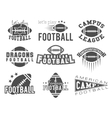 college rugand american football team badges vector image vector image