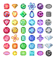 Colored gems cuts set vector image vector image