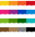 colorful paint border set with isolated white vector image vector image