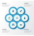 combat colorful icons set collection of soldier vector image vector image