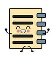 cute kawaii cartoon icon vector image vector image