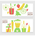detox smoothie vector image vector image