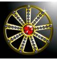 expensive gold diamond wheel p2 vector image