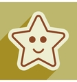 flat icon with long shadow Gingerbread Christmas vector image vector image