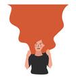 flat style modern angry girl vector image