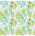 Floral garden pattern summer tropical background vector image