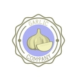 Garlic badge vector image vector image