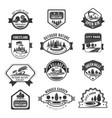 green nature city parks company icons set vector image vector image