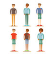 group of guys set of male characters on a white vector image