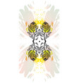 hand made graphic abstract floral mirror vector image vector image