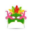 happy brazilian carnival carnival colorful mask vector image vector image