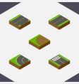 isometric way set of strip turning down and vector image vector image