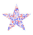 july 4th pattern made stars vector image vector image