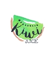 Kiwi 100 Percent Fresh Juice Promo Sign vector image
